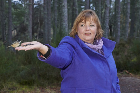 Fiona Hyslop MSP visited the Abernethy Nature Reserve to reveal the funding packages