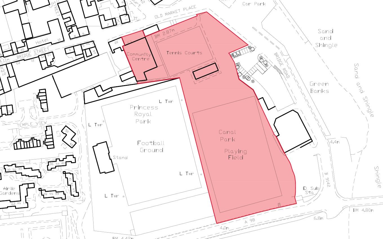 Canal Park site plan