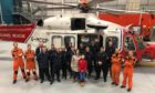 Keiran was delivered a surprise visit to the Coastguard helicopter hangar earlier this week