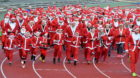 The Aberdeen Santa Run  Pictured is the Santa 5km   Picture by Chris Sumner.