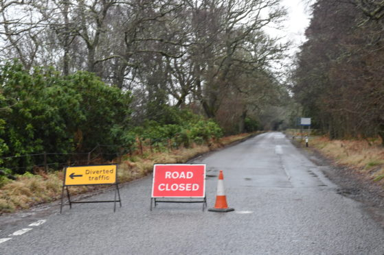 Police have closed the B976 between the Aboyne turn-off and Dinnet Bridge.