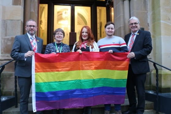 L_R: Graham Laughton, Rosemary Mackinnon, Jessica Taylor, Ciaran Wilsonfrom and Councillor Graham Ross