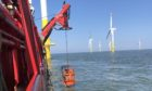 Sea Axe successfully completing a job in the Nordegrunde offshore windfarm