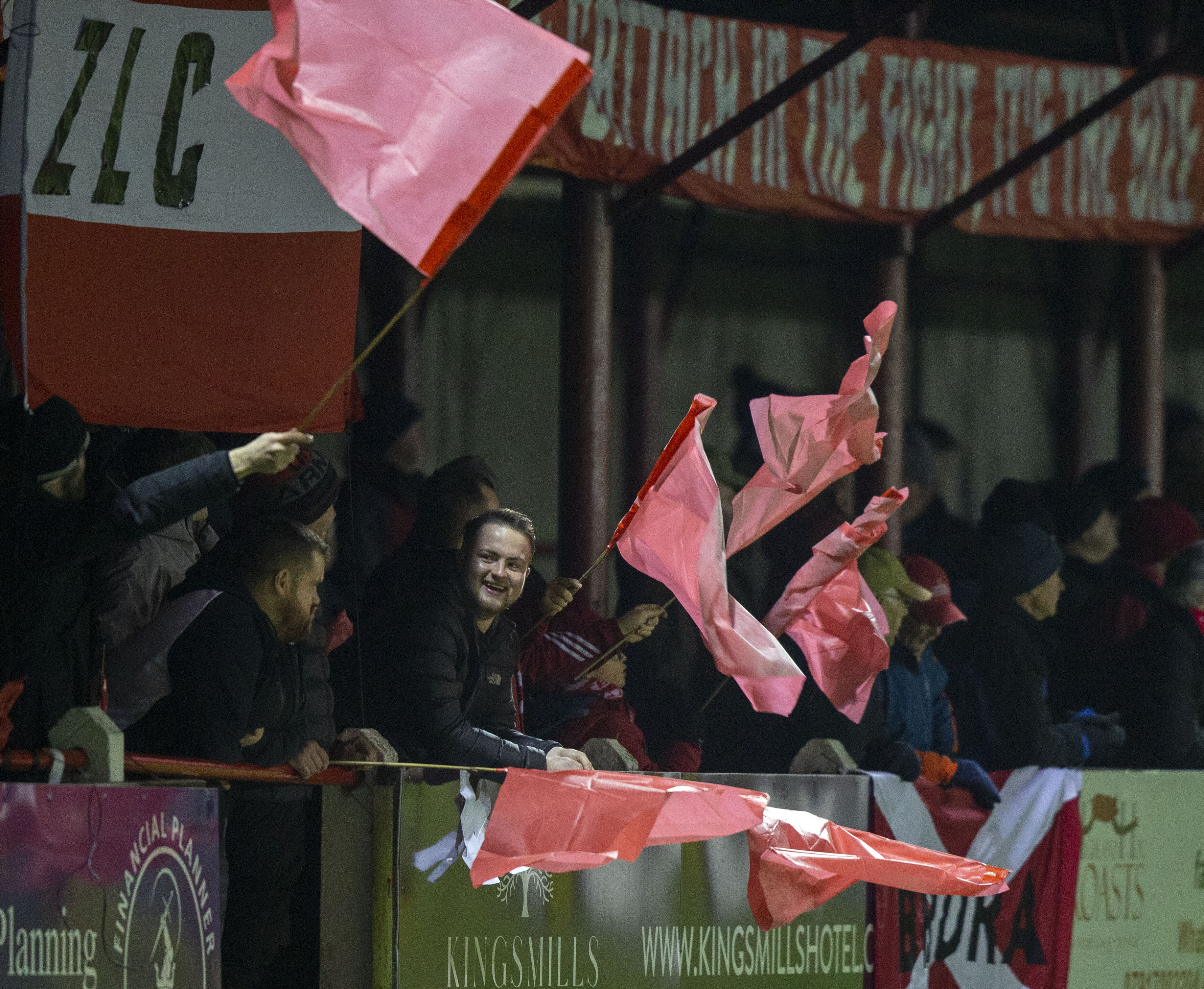 The Brora supporters made themselves seen and heard.