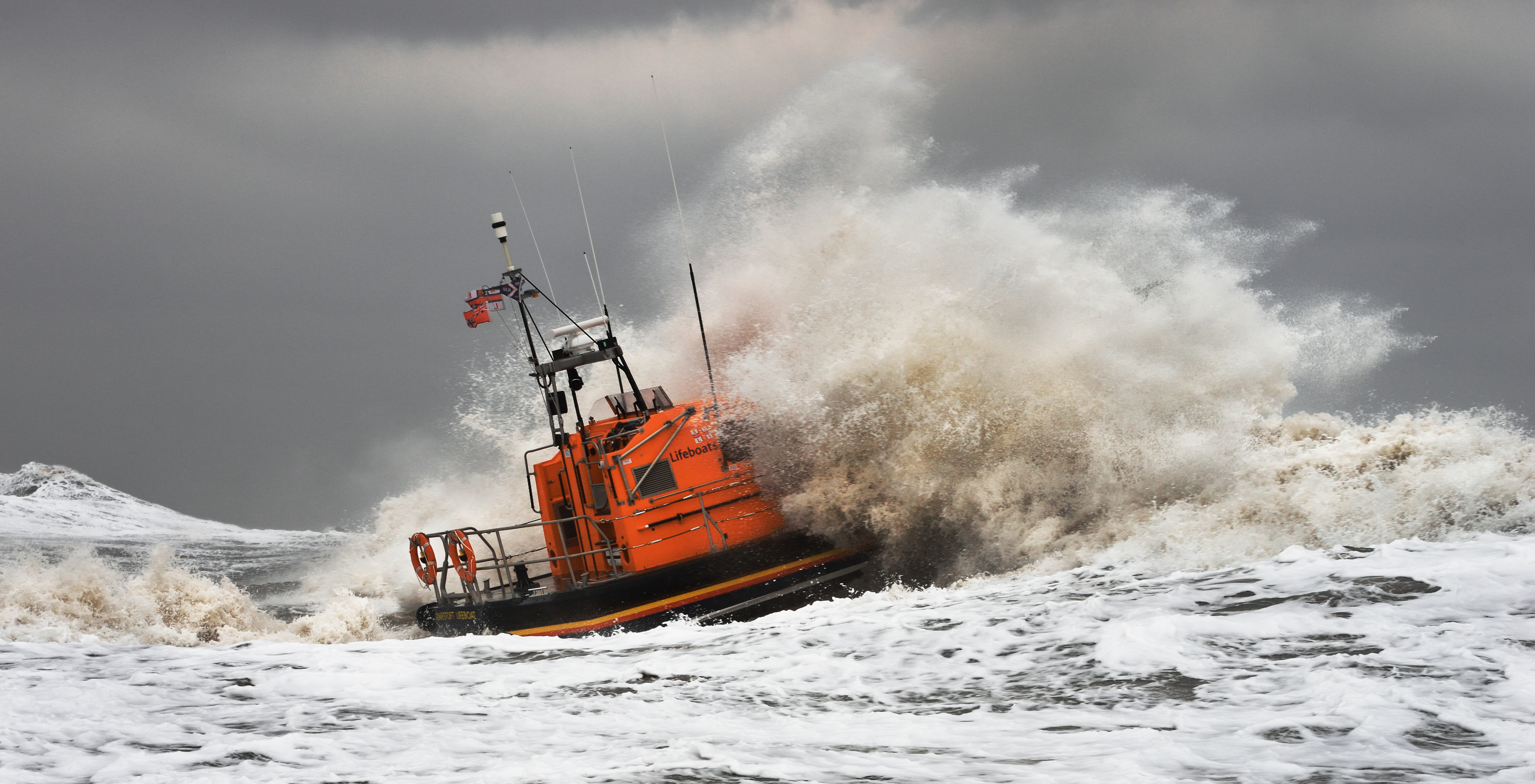 The RNLI has launched a new Perfect Storm campaign. Pic: Nigel Millard