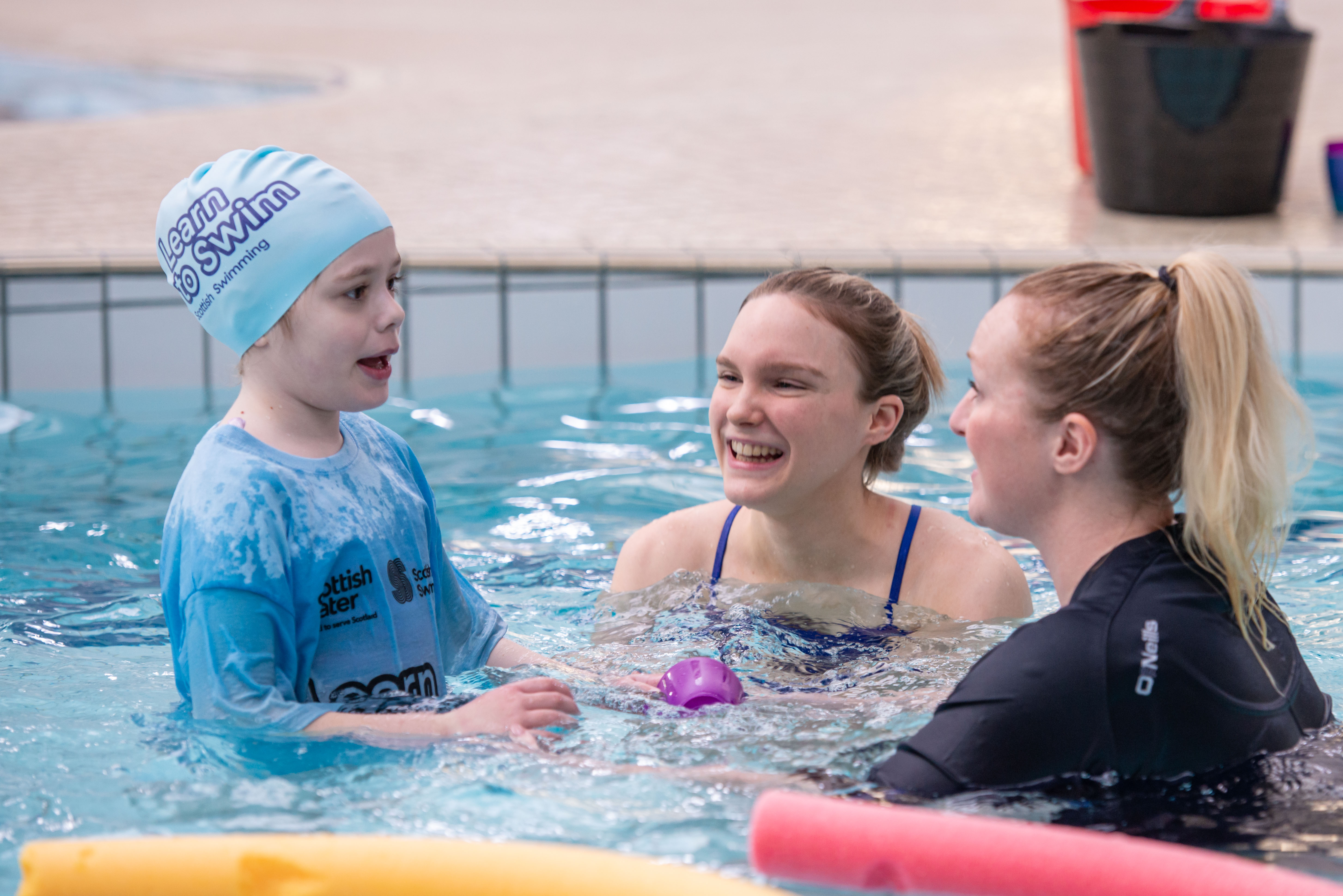 Launch of the new inclusion programme with Scottish swimming  star and ambassador Toni Shaw