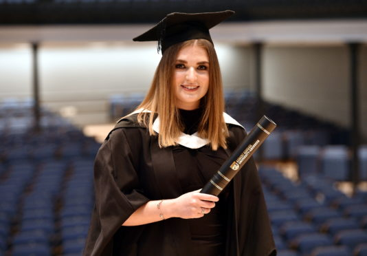 RGU Winter Graduations at Music Hall, Aberdeen Pictured is Nicole Cruden – BEng Mechanical and Offshore Engineering The ability to study part-time while working is paying dividends for Turriff student, Nicole Cruden, who is set to graduate from Robert Gordon University (RGU) with a degree in Mechanical and Offshore Engineering. Picture by DARRELL BENNS  Pictured on 11/12/2019    CR0014966