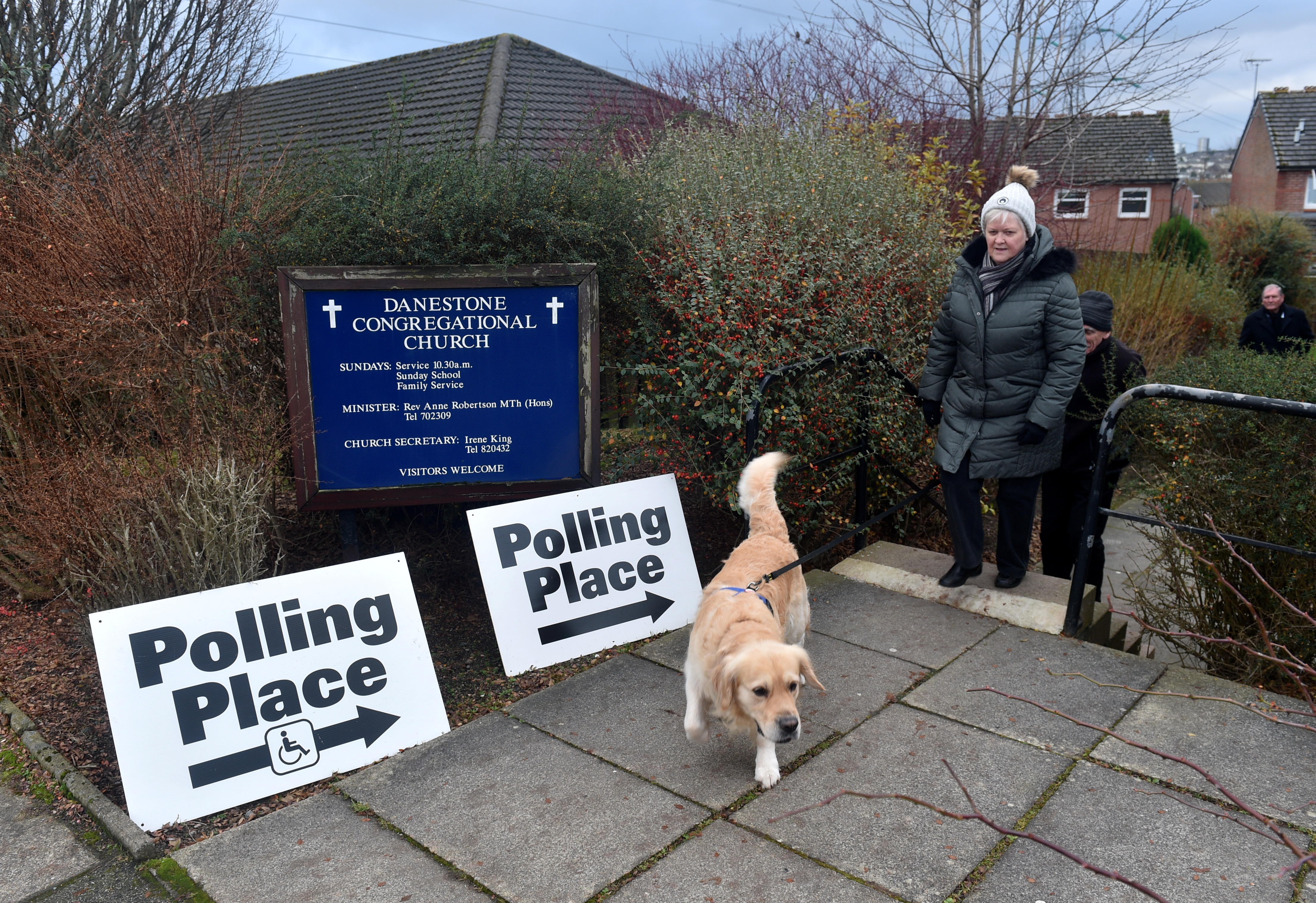Pictured are voters at the polling station at Danestone Congregational Church, Danestone, Aberdeen. Picture by Darrell Benns