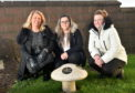 Pictured are from left, Dianne Beagrie, Sinead McKenzie and Karen Brown at Grange Cemetery, Peterhead. Mushrooms have been installed at Aden Country Park and at Grange Cemetery Peterhead as a place for the SANDS charity (stillborn and neonatal death charity) members to go to remember their lost ones.  Picture by DARRELL BENNS  Pictured on 12/12/2019