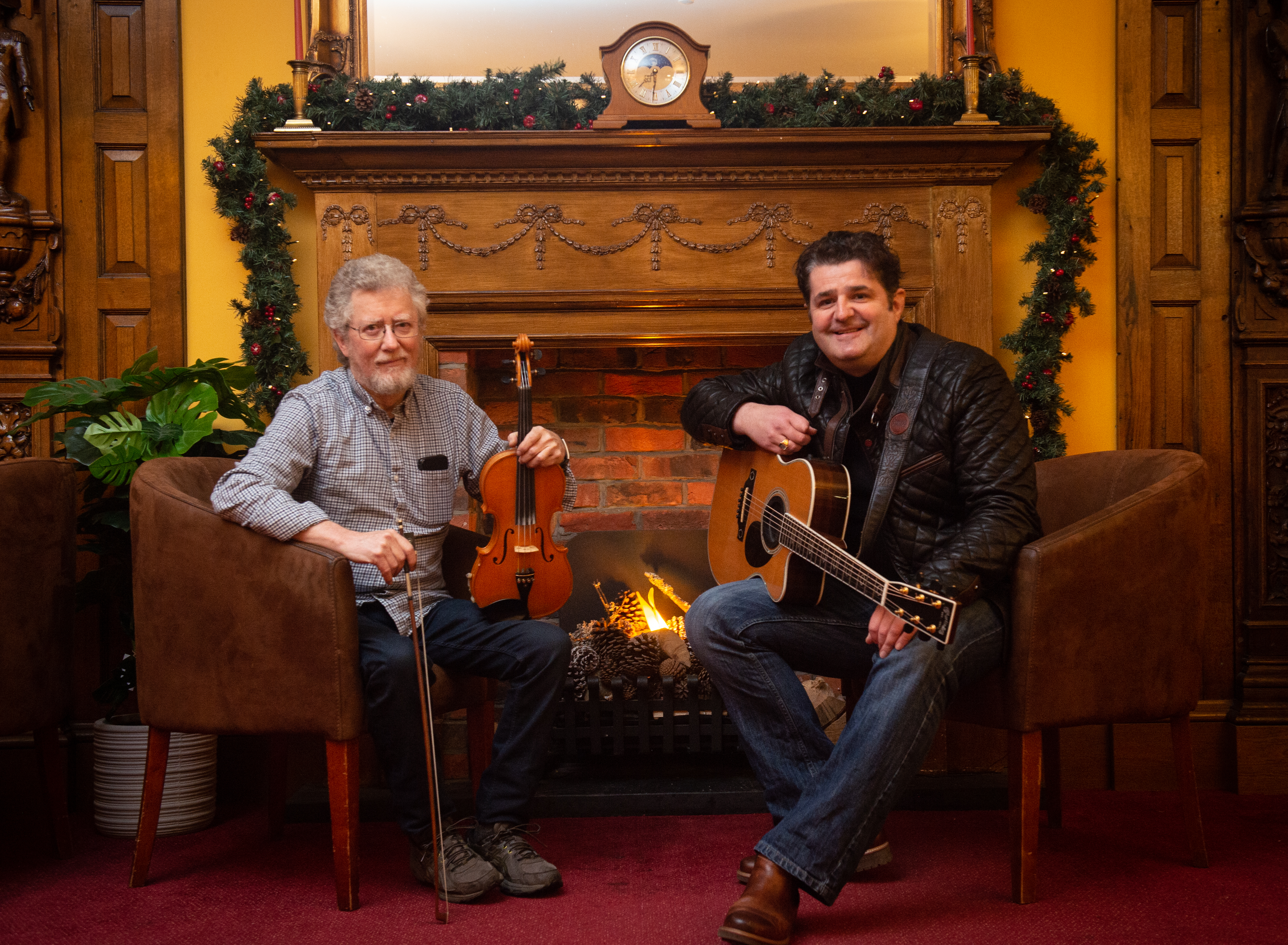 Founder James Alexander (fiddle) and committee member Colin Mackay (guitar), Picture by Jason Hedges