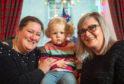 Picture:L2R - Mum Kirsten Goodbrand, Daughter Emilie Goodbrand, Debra Paul.   Pictures by JASON HEDGES
