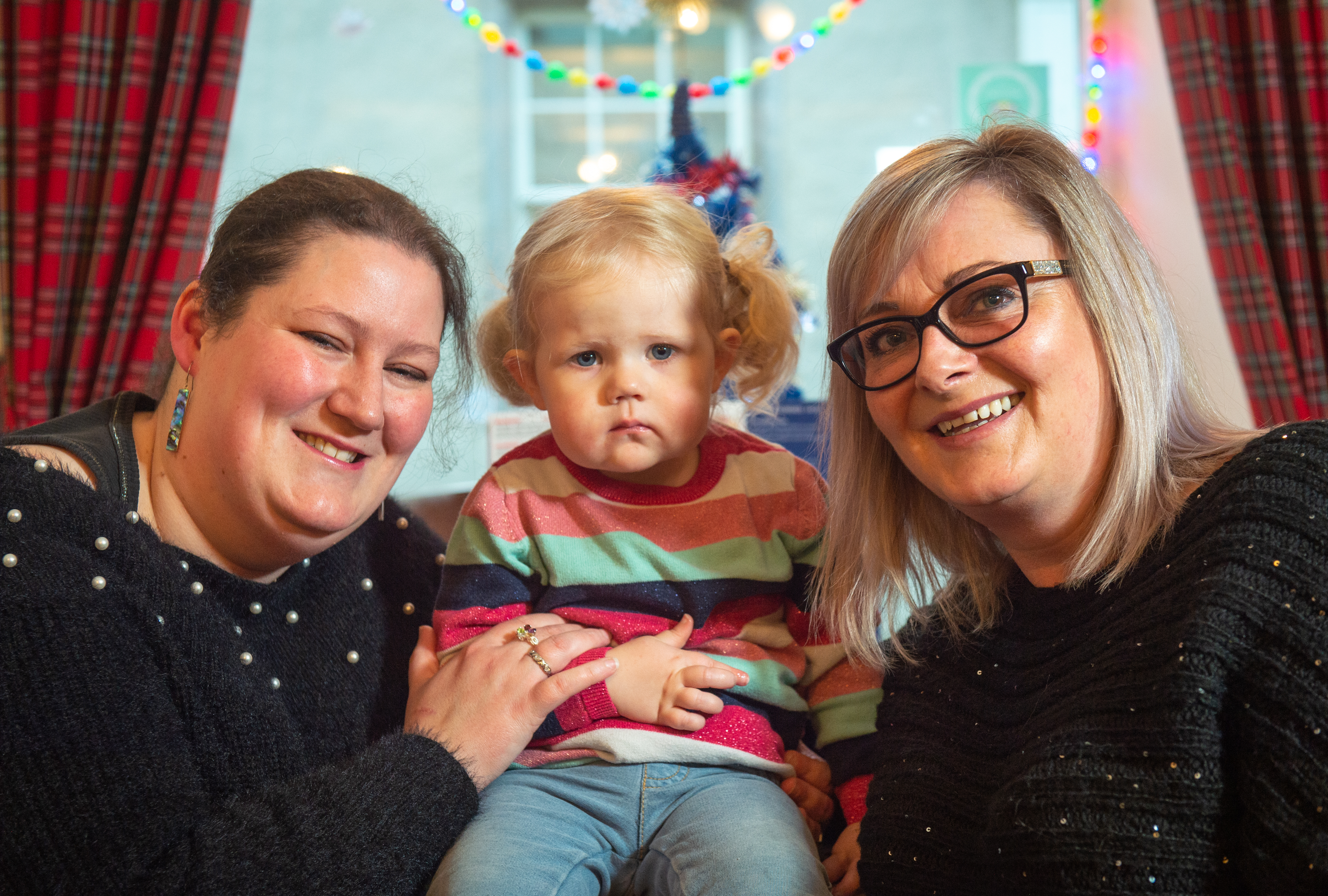 Picture:L2R - Mum Kirsten Goodbrand, Daughter Emilie Goodbrand, Debra Paul.   Pictures by JASON HEDGES