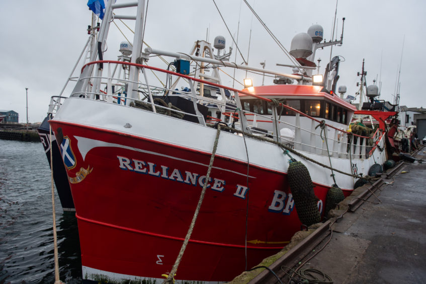 Reliance 2 is pictured moored up at Fraserburgh Harbour, Pictures by JASON HEDGES