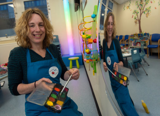 Art therapist Nicola Kennell is pictured at Raigmore Hospital outpatients area in Inverness. Pictures by JASON HEDGES