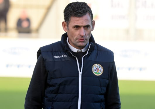 Forres Mechanics manager Charlie Rowley.