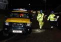 Coastguard teams at the incident