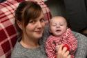 Morven Davidson with 3 month old James.