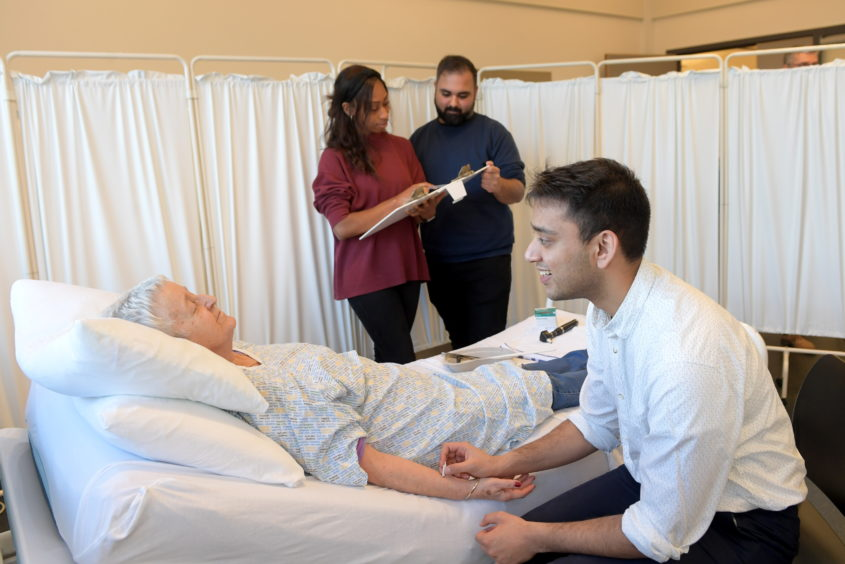 The Patient Partner programme sees people volunteer and dedicate their free time to help medical students at Aberdeen University