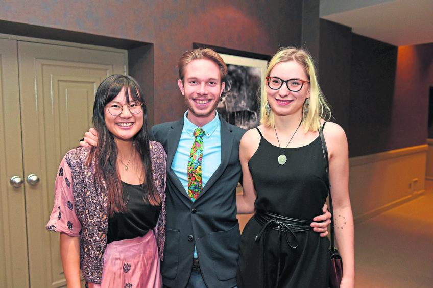 Pictured (l-r) Xianne Koller, Vivien Montaz, Darja Strasser. Picture by Paul Glendell