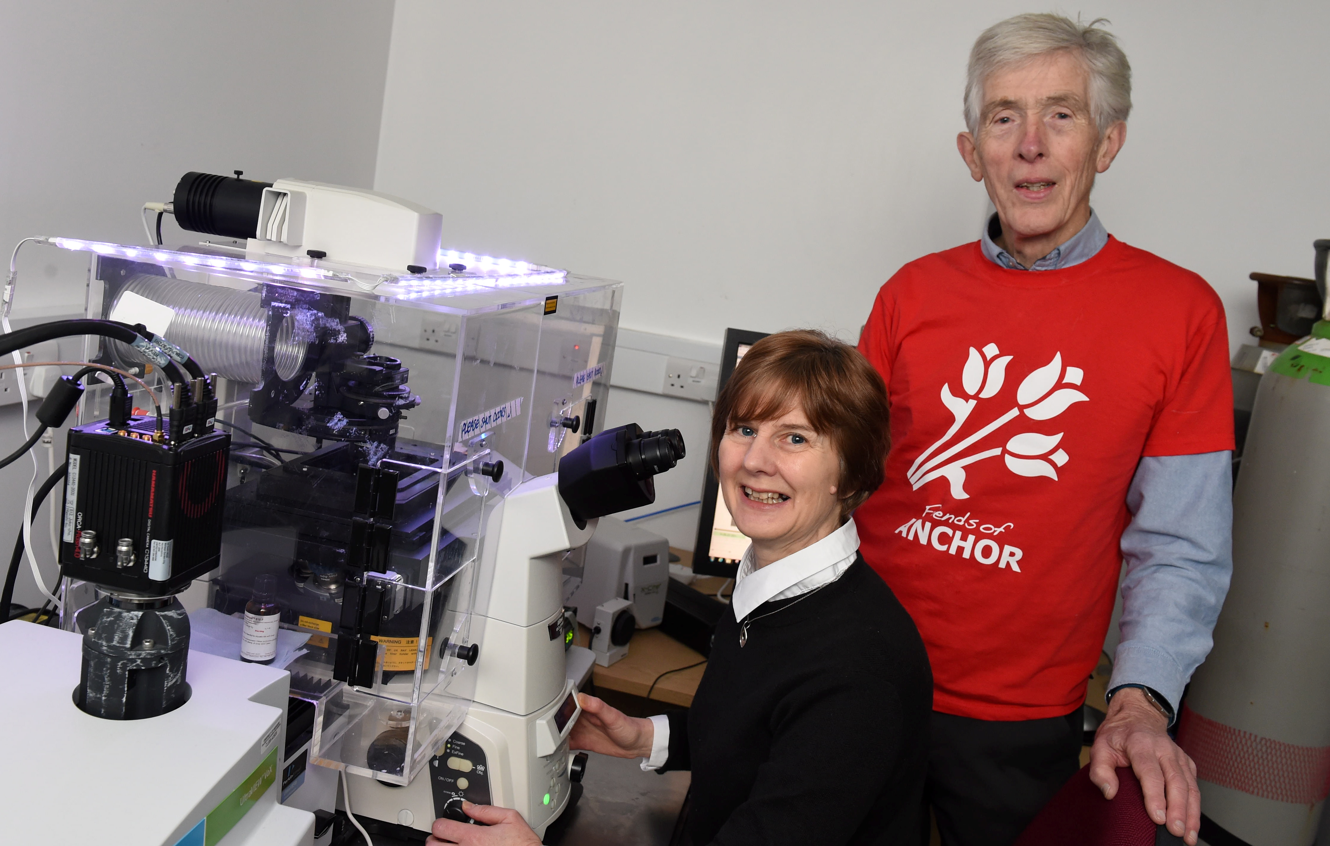 Professor Heather Wilson and Dr Andy Hutcheon. Picture by Paul Glendell