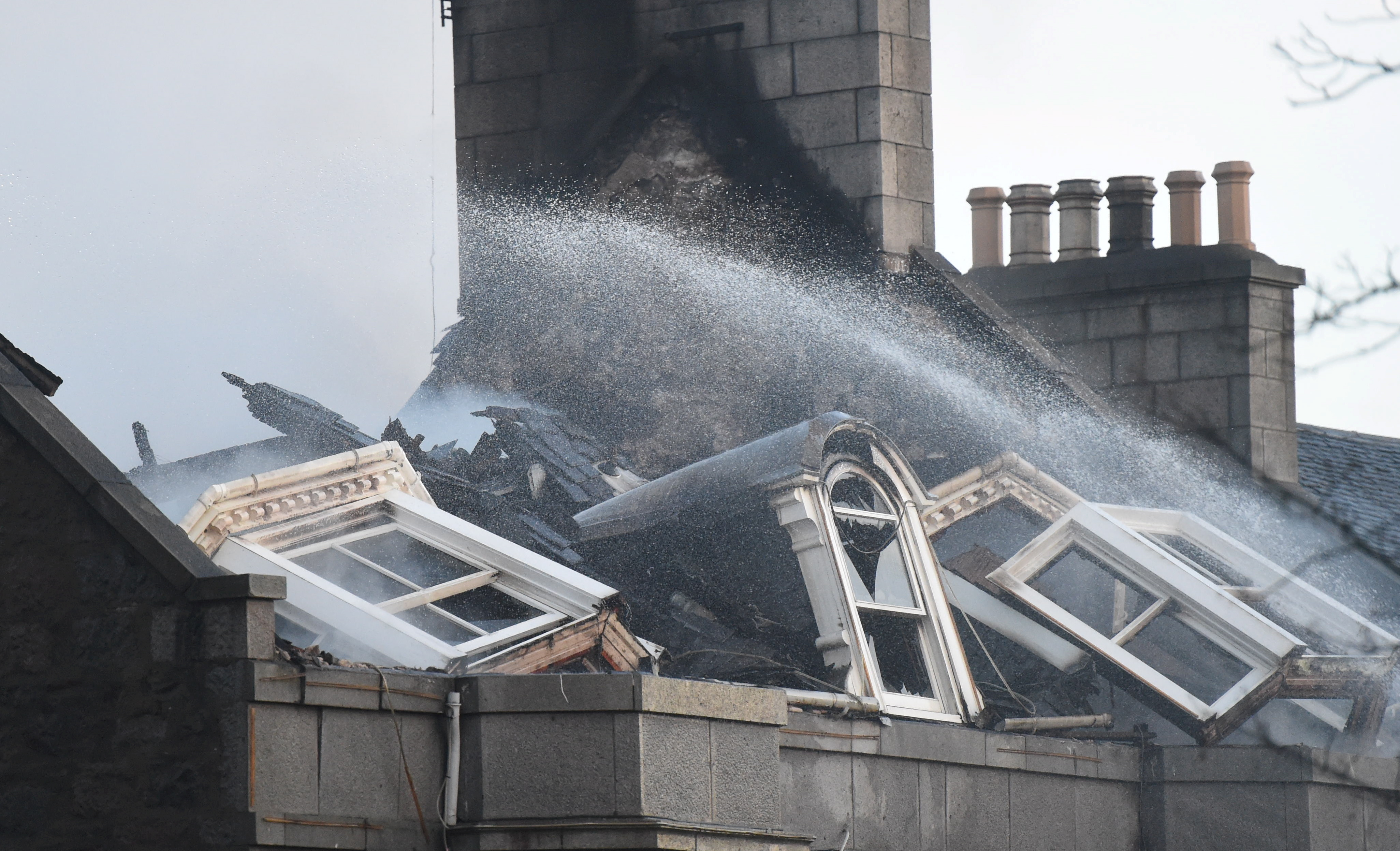 Fire at Valentinos restaurant Carden Place Aberdeen  Picture by Paul Glendell   23/12/2019