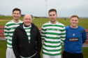 From left: Michael Clark captain of 'Celtic', Organiser Norman Reid, Ryan Greig and Eddie Thomson, captain of the 'Rangers' team    Picture by Paul Glendell