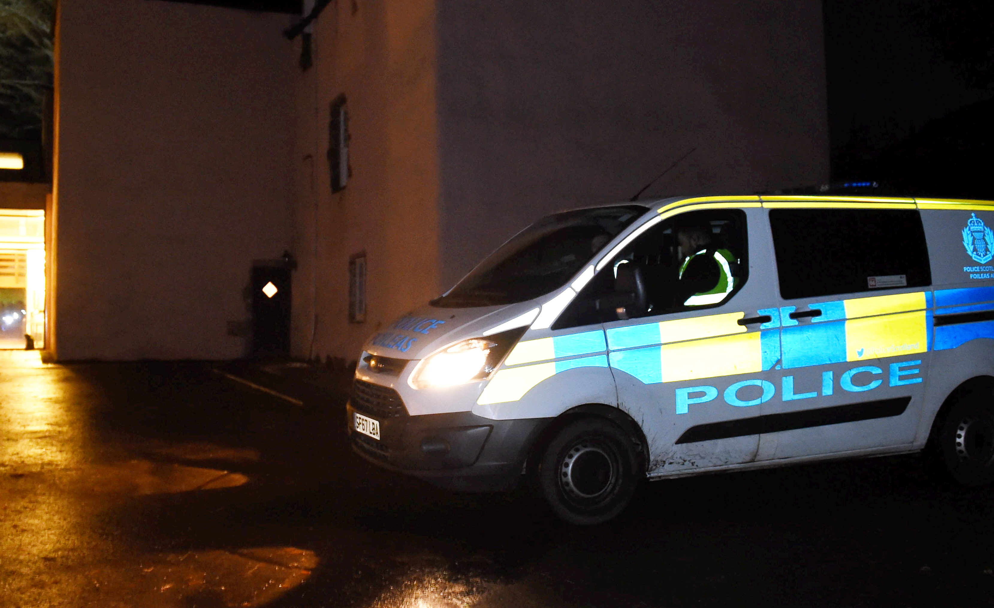 Police at the scene in Rickarton area  Picture by Paul Glendell