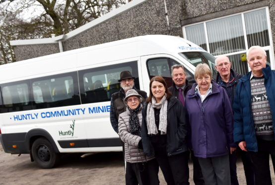 Huntly Minibus Committee are competing to win the P&J minibus.