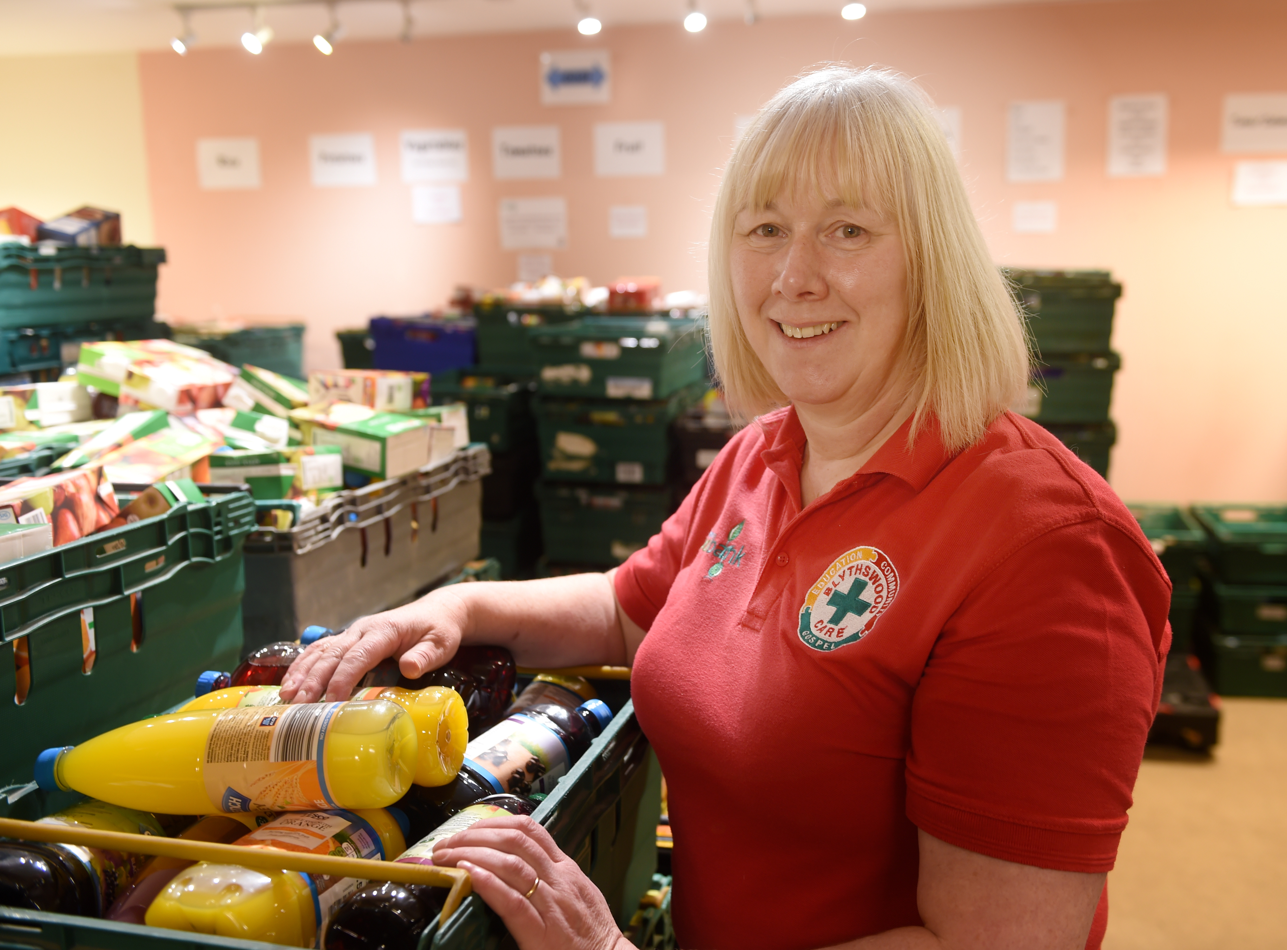 Lorna Dempster of the Highland Foodbank based in Glebe Street, Inverness has asked that people keep the foodbank in thought all-year-round. Picture by Sandy McCook