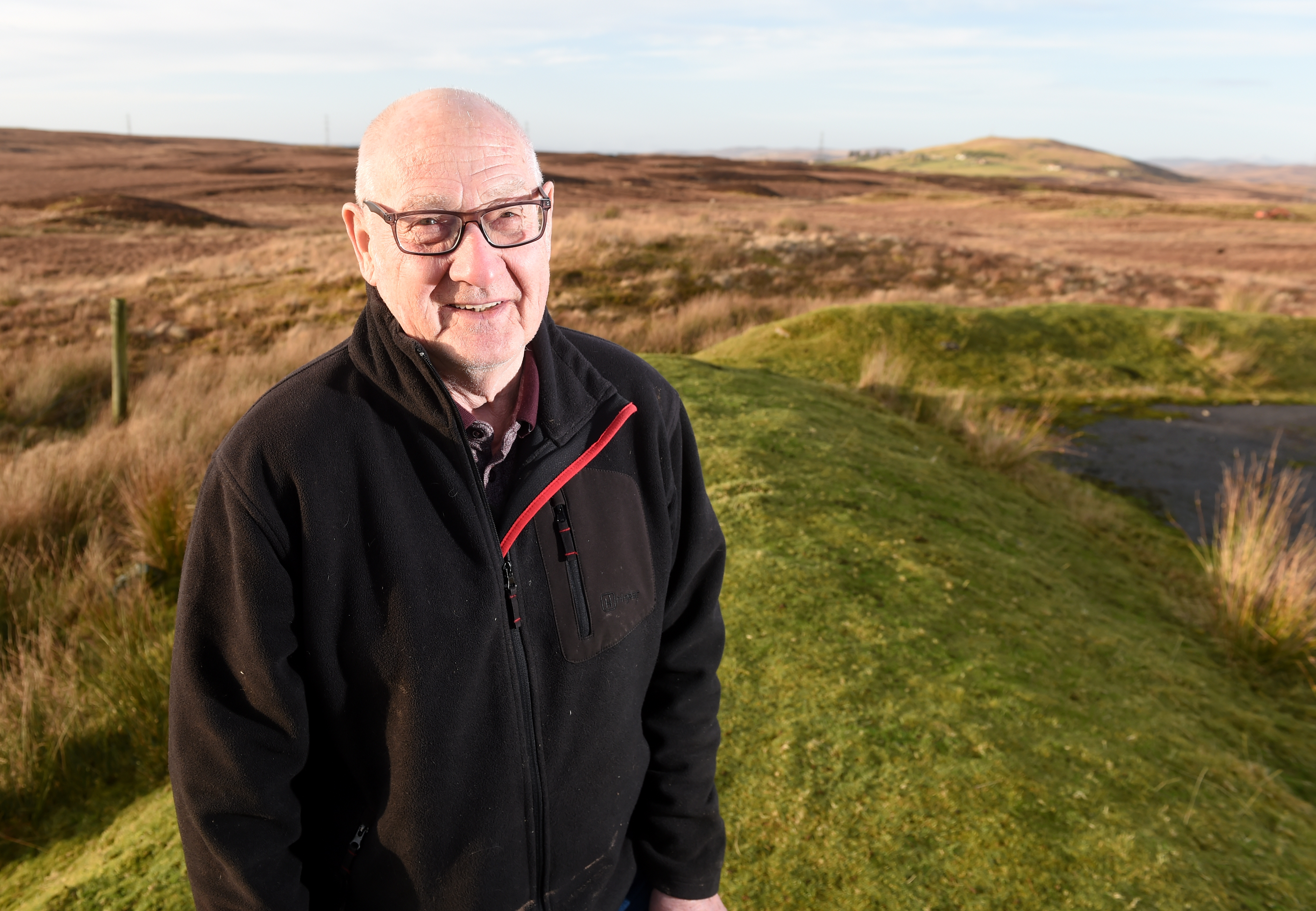 """Michael O'Reilly of Inchomney, Rogart in Sutherland has hits out at the latest proposed development in Rogart fearing village will become """"encircled"""" by wind farms. Picture by Sandy McCook"""