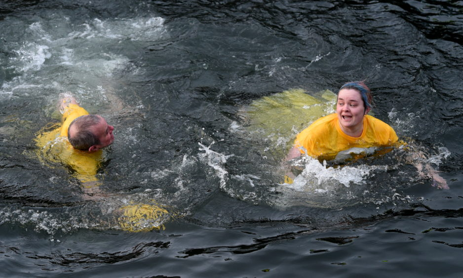 Burghead Boxing Day swim