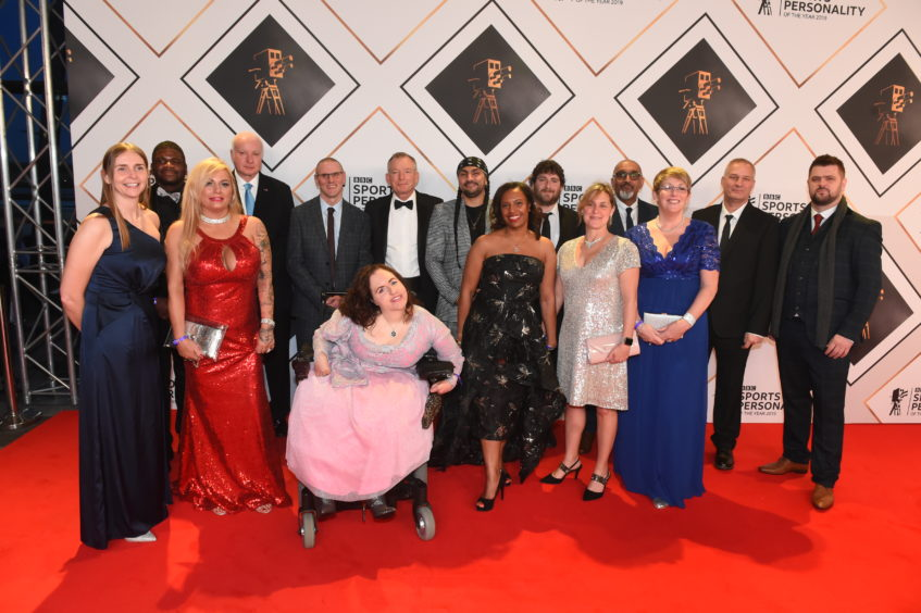 Nominees for Unsung Hero award at BBC SPOTY.   Picture by Kenny Elrick