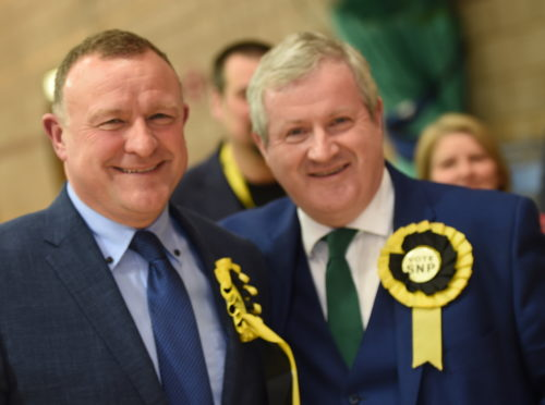 Drew Hendry, left, and Ian Blackford, right. Picture by Sandy McCook.