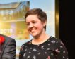 SNP's Kirsty Blackman celebrates winning the seat at P&J Live, Aberdeen. Picture by Kenny Elrick