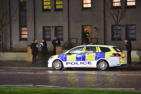 Heavy police presence at a property on School Road