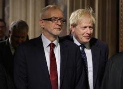 Prime Minister Boris Johnson (right) Labour leader Jeremy Corbyn