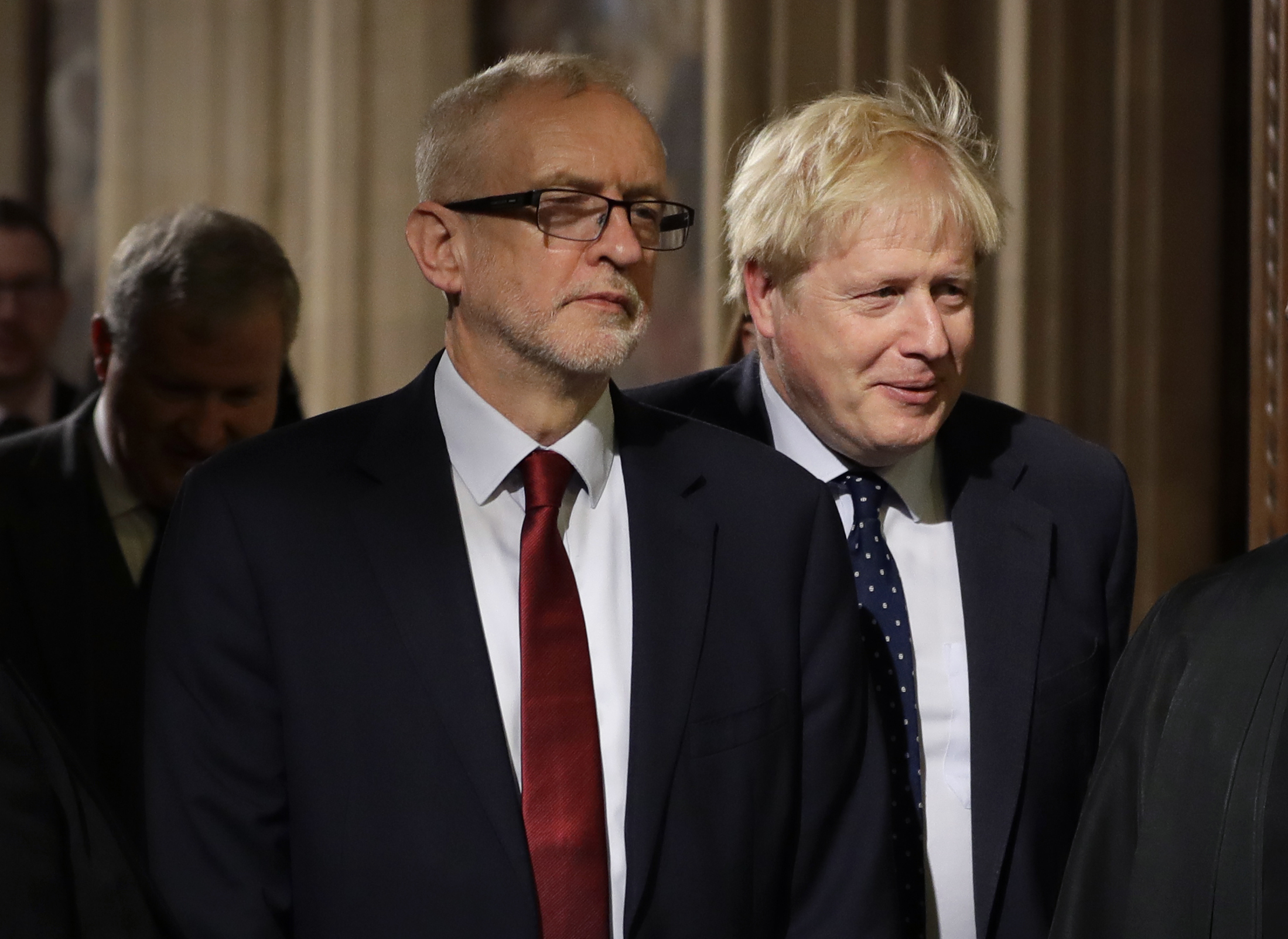 Prime Minister Boris Johnson (right) Labour leader Jeremy Corbyn