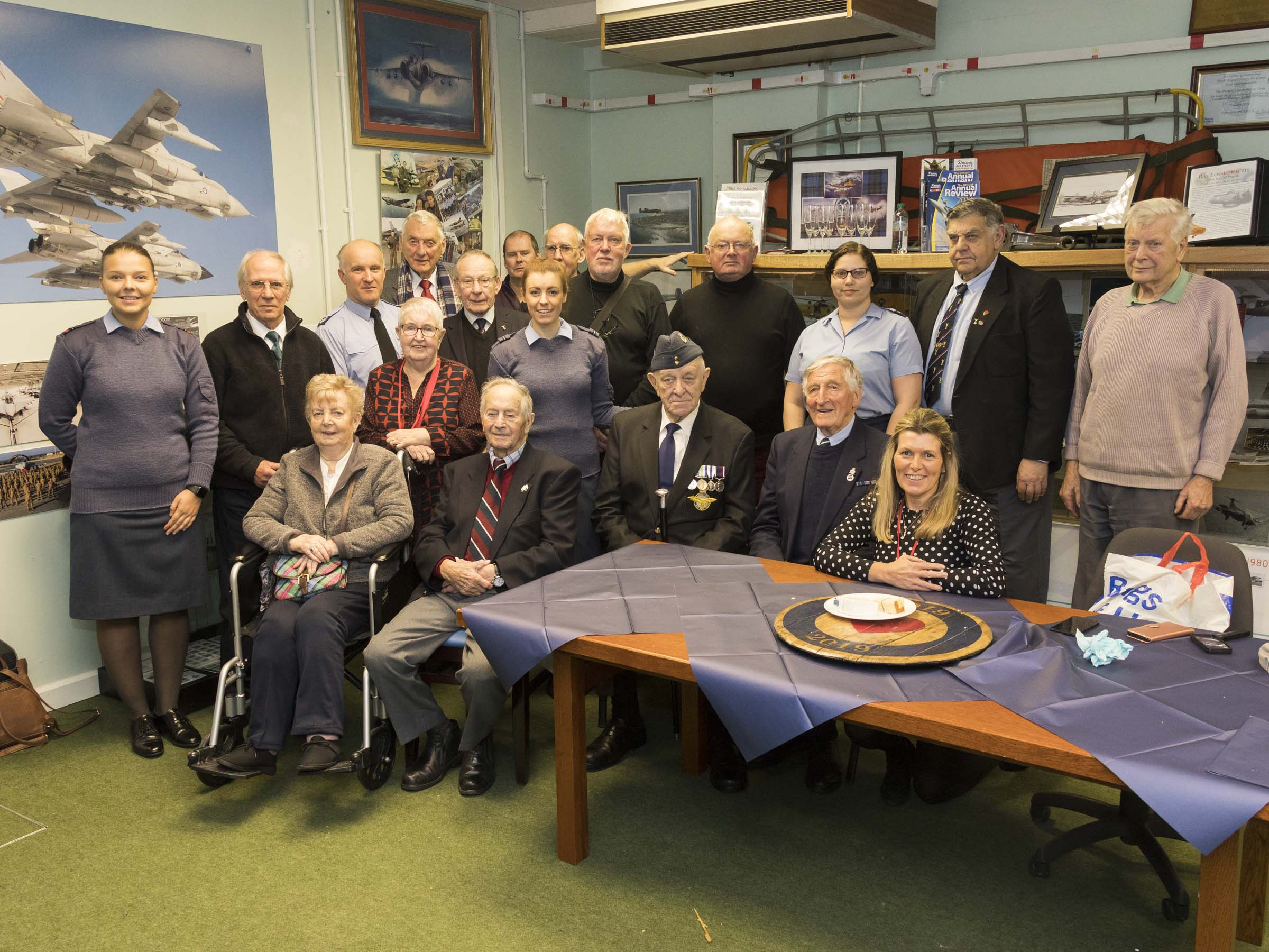 Veterans and Scottish War Blinded staff visited RAF Lossiemouth.