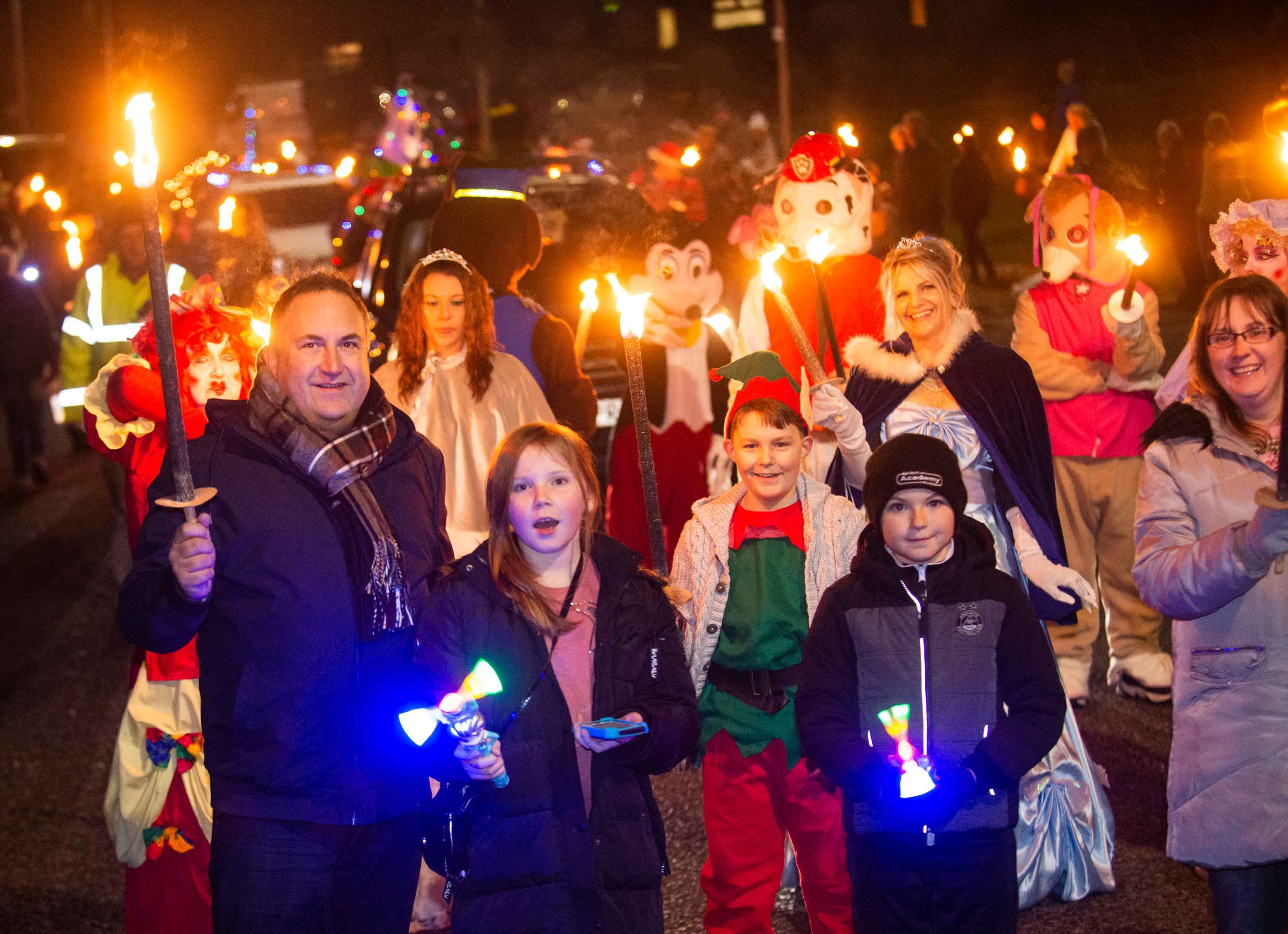 Lossiemouth hosts a festive extravaganza to mark the 20th anniversary of the town's Christmas lights switch on