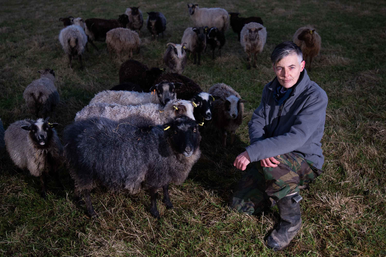 Sheep farmer Christine McKinnon with her depleted flock