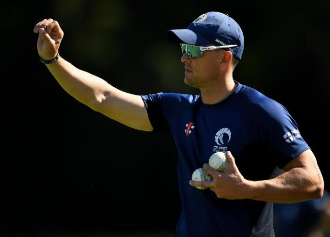Scotland cricket coach Shane Burger