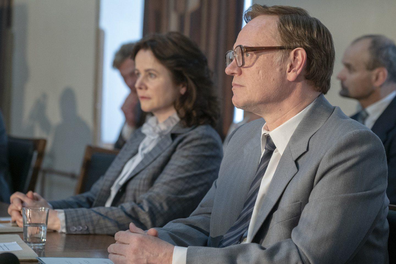 Chernobyl stars Emily Watson as Ulana Khomyuk and Jared Harris as Valery Legasov.