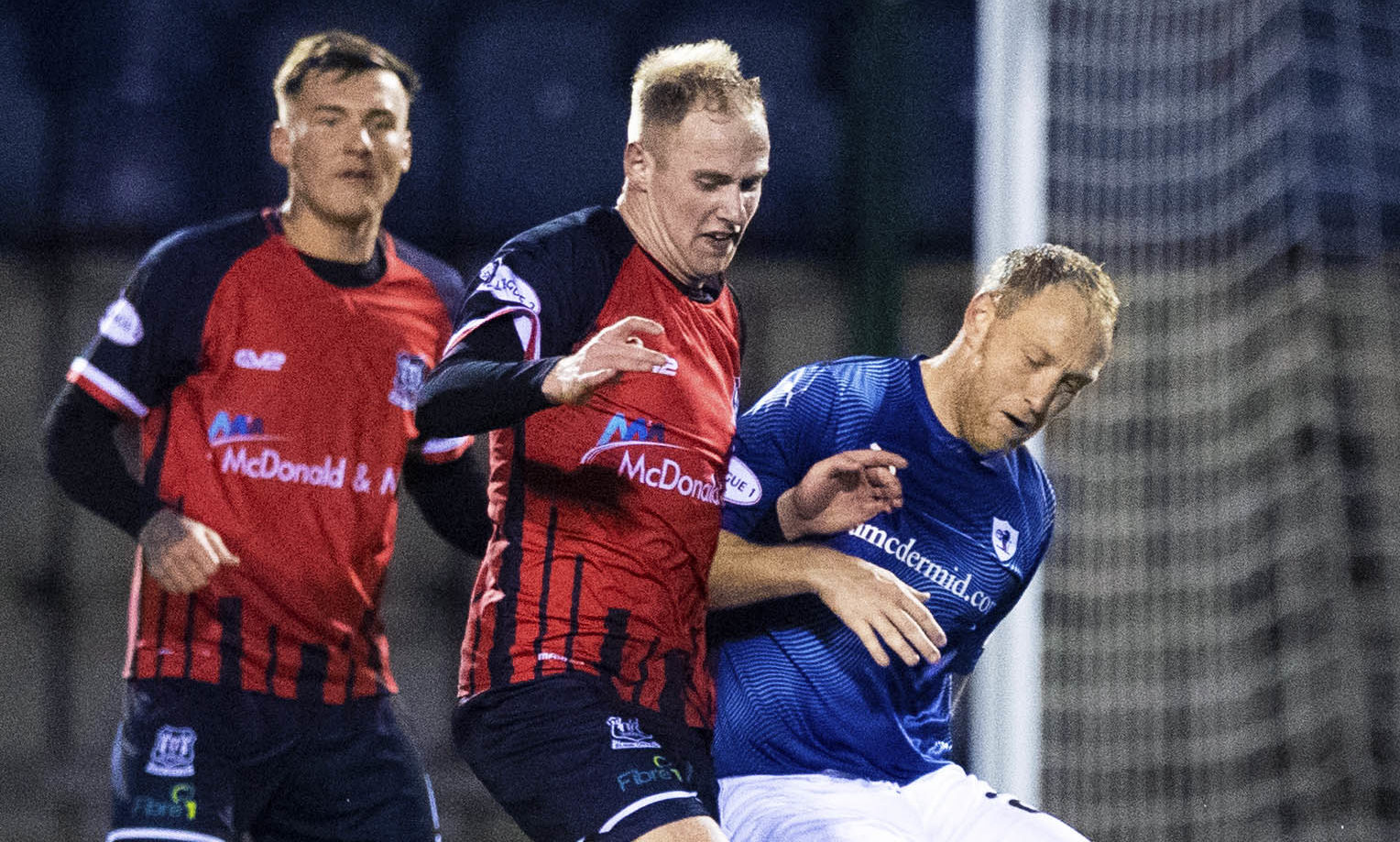 Euan Spark picked up an injury against Cove.