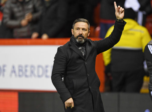 Aberdeen manager Derek McInnes at full-time.