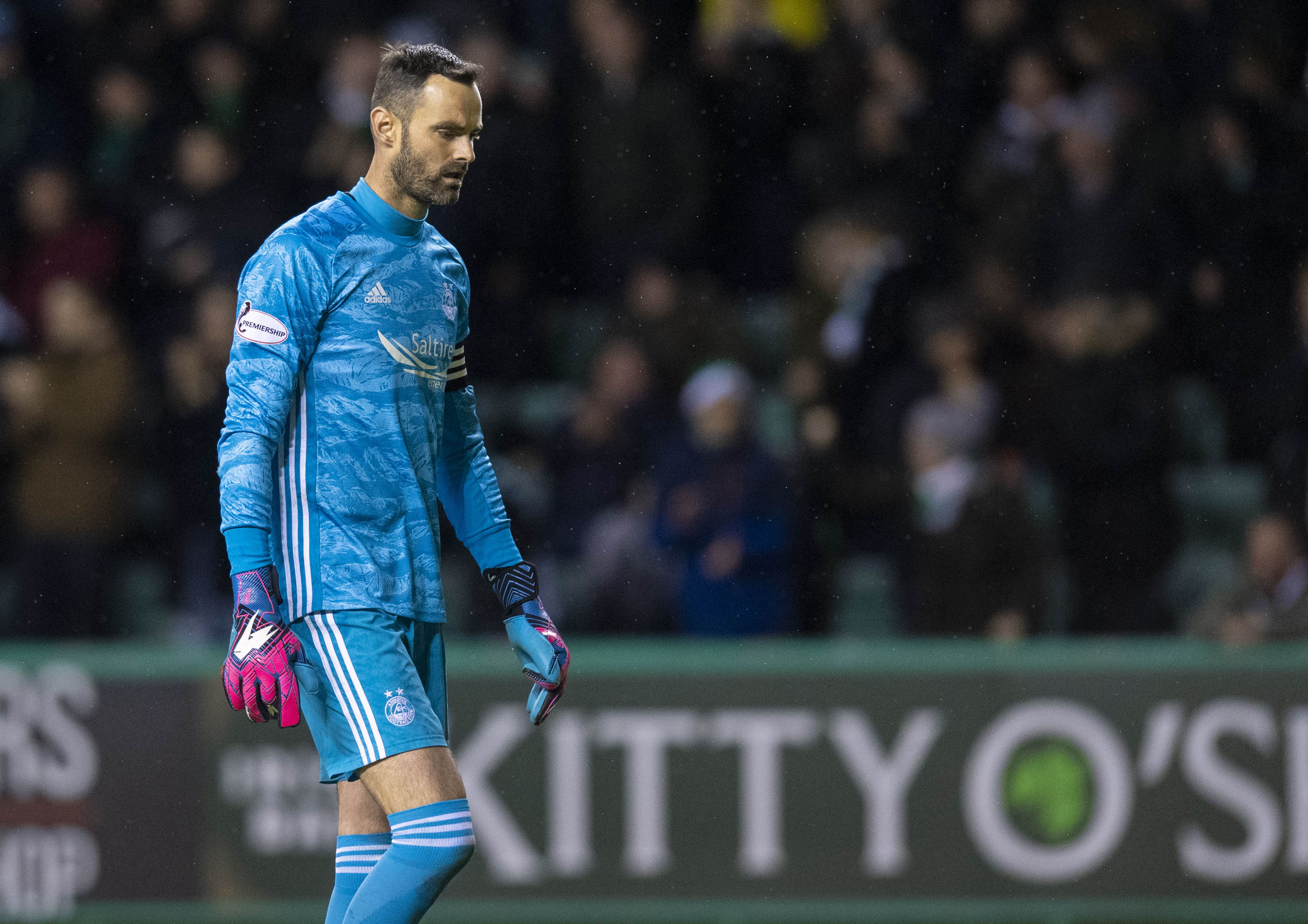 Joe Lewis is pictured during the Ladbrokes Premiership match between Hibernian and Aberdeen, at Easter Road, on December 7.
