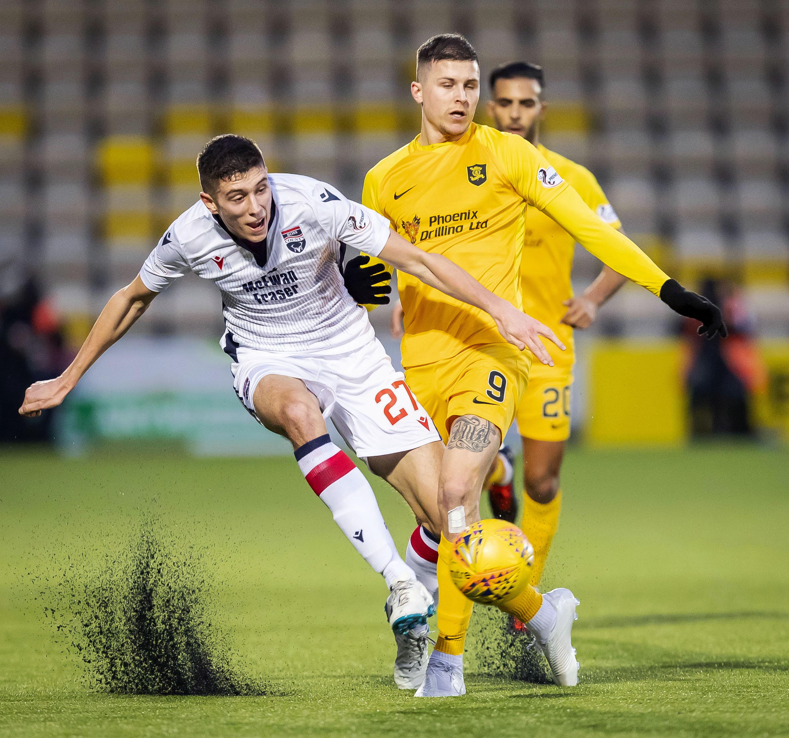 Ross Stewart in action against Livingston.