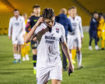 Lewis Spence walks off dejected after a Ladbrokes Premiership match between Livingston and Ross County.