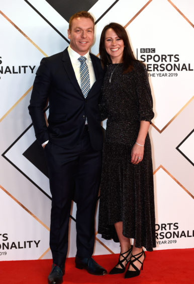 Chris Hoy and Sarra Kemp arriving for the BBC Sports Personality of the year 2019 at The P&J Live, Aberdeen.