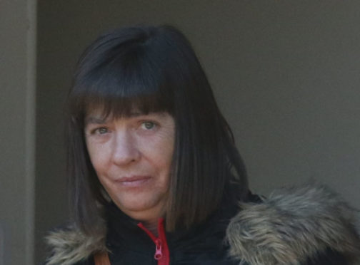 Shirley Cameron at Inverness Sheriff Court where she appeared on a charge of fraud.