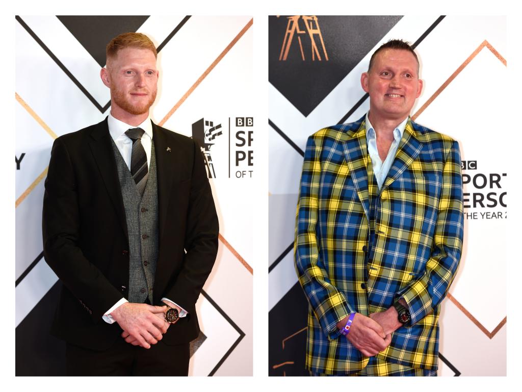 Ben Stokes, left, and Doddie Weir, right